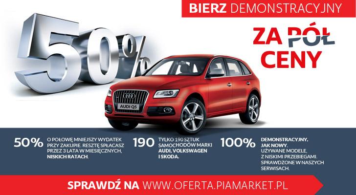 wyjątkowa oferta w pia market - samochody audi za 50%