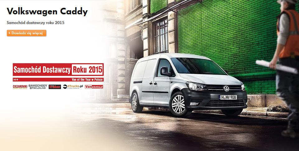 volkswagen caddy - samoch�d dostawczy roku 2015