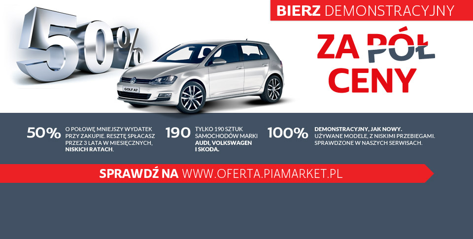 wyj�tkowa oferta w pia market - volkswageny za 50%