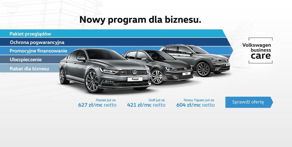 Volkswagen Business Care. Wiele korzyďż˝ci. Jedna rata.