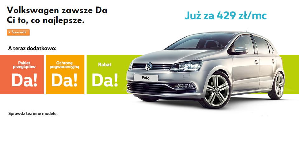 Volkswagen zawsze Da Ci to, co najlepsze.