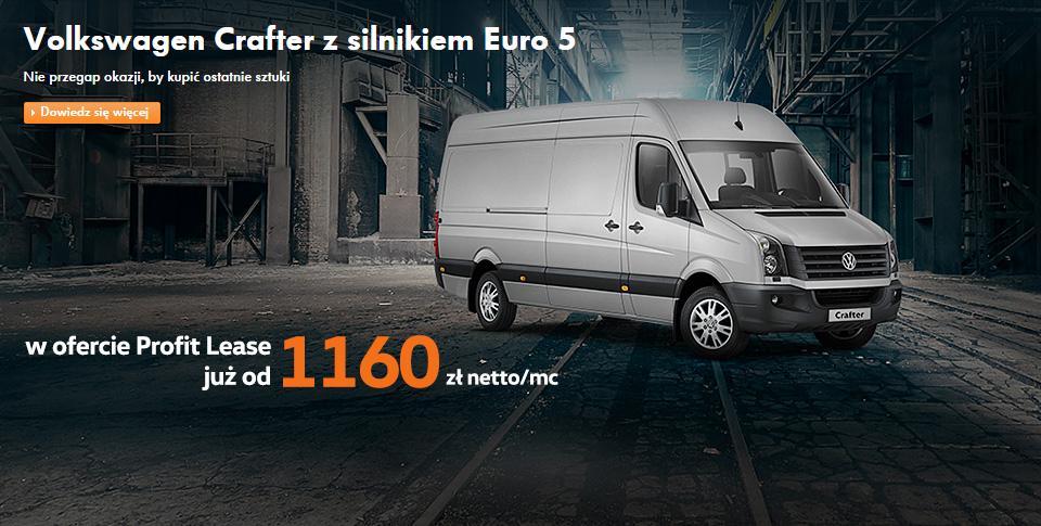 Volkswagen Crafter z silnikiem Euro 5