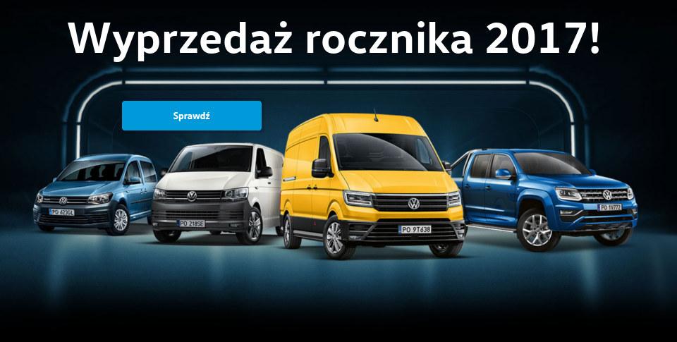 Wyprzeda¿ rocznika 2017 U¿ytkowe Volkswagen